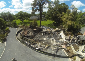 An image of Aerial Video and Photography during a fire investigation